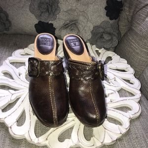 Frye Leather Clogs Shoes Woman's 6.5